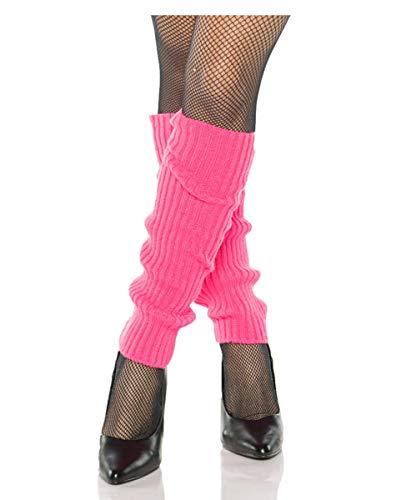 Horror-Shop Pinke 80er Jahre Beinstulpen als Kostüm Zubehör für - 80er Jahre Ära Kostüm