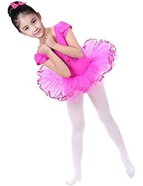 Oyedens Ragazza Leotard Vestito Tutu Balletto Dancewear Body Ginnastica Abbigliamento 2-6 Anni Danza Tuta Abiti...