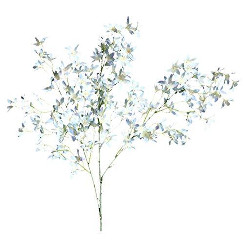 Wozow fiori artificiali,orchidea fiore finto,casa nozze festa decorazioni floreali 1 pezzi d