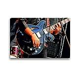 CALVENDO Toile Textile de qualité supérieure de 45 cm x 30 cm, Motif Guitariste sur scène | Tableau sur châssis - Impression sur Toile - Impression sur Toile - en Concert Kunst Kunst