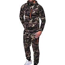 Sudadera de Camuflaje otoñal de Invierno para Hombre, pantalón Superior, Conjuntos de chándal de