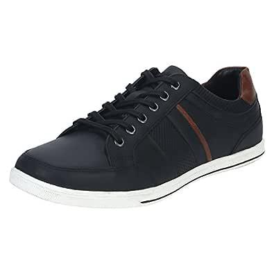 Red Tape Men's RTE0841 Black Leather Sneakers-6 UK/India (40 EU) (RTE0841-6)