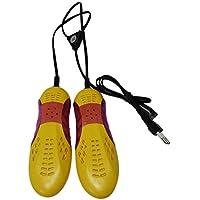Footprintse Race Car Shape Violet Light Shoe Dryer Protector de pies Boot Odor Desodorante Deshumidificar el Dispositivo Zapatos portátiles Drier Heater-Color: Yellow