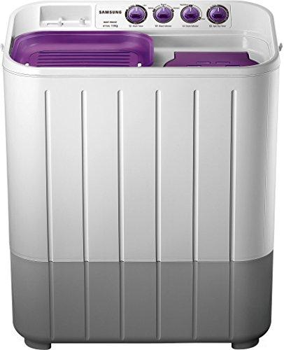 Samsung WT705QPNDMPXTL Semi-automatic Washing Machine (7.0 kg, Grey and Purple)