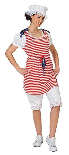 Rubies Retro-Badeanzug Kostüm für Damen L