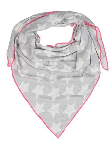 Cashmere Dreams Dreieckstuch aus Baumwolle - Hochwertiger Schal für Damen Jungen und Mädchen - XXL Hals-Tuch und Damenschal - Strick-Waren für Sommer und Winter 150cm x 120cm (hgr/pin)