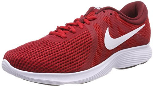 NIKE Herren Revolution 4 EU Sneakers, Rot (Gym Red/White/Team Red/Black 600), 43 EU