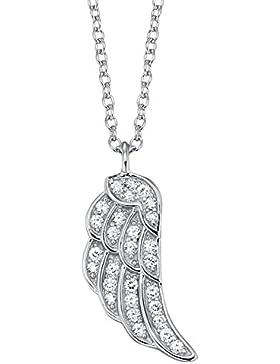 [Gesponsert]Engelsrufer Damen-Kette mit Anhänger 925 Silber rhodiniert Zirkonia weiß 40 cm - ERN-LILWING-ZI