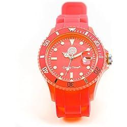 Bayern Munich Watch Candy Time Orange + Free Badge, Analogue Quartz Silicone Unisex Watch
