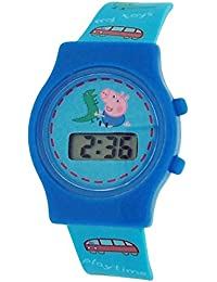 Peppa Pig Boy's - Children's Digital Date Watch With Silicone Buckle Strap PP010
