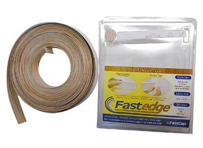 FastCap FastEdge Peel & Stick Edge Tape 250' Roll PVC Hardrock Maple by Fastcap -