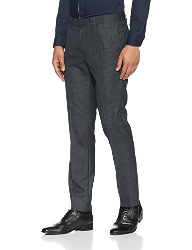 Excalibur by Unlimited Men's Slim Formal Trousers (8907542676408_400016616743_34Wx35L_Charcoal)