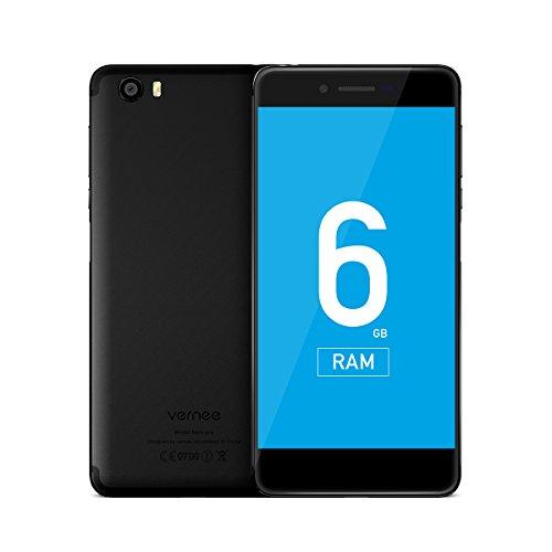 Vernee Mars Pro 4G LTE Handy Smartphone 5,5 Zoll Google Android 7.0 6GB+64GB Helio Helio P25 MT6757T 2.5GHZ Octa Core 5.0MP + 13.0MP Kamera Schnelles Laden Front Fingerabdruck Typ C GPS Fingerabdruck (Video-karten-booster)
