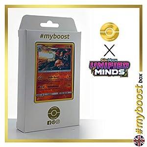 Magmotar 22/236 Holo Reverse - #myboost X Sun & Moon 11 Unified Minds - Box de 10 cartas Pokémon Inglesas