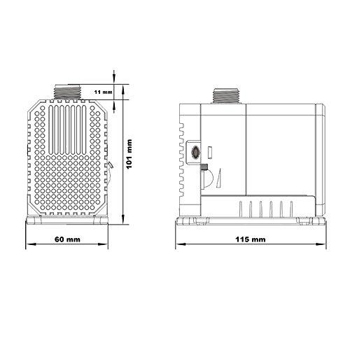 SunSun CHJ-2000 ECO Teichpumpe 2000l/h mit nur 35W - 4