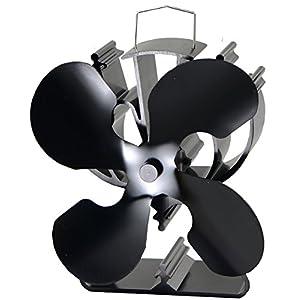 Ventilador para estufa equipmart Limited para madera/leña – respetuoso con el medio ambiente negro