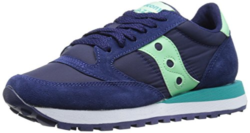 Saucony-Jazz-Original-Scarpe-Low-Top-Donna-NavyMint-EUR39-UK-6-US-8