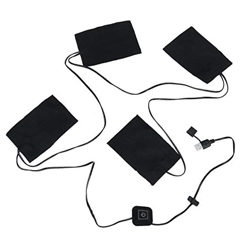 JenNiFer 9 Watt 5-12 V USB Heizung 4 Pads 3 Gears Thermische Weste Beheizte Platte Jacke Motorrad Warme Winter