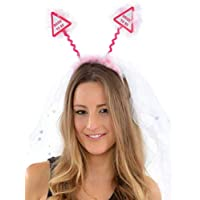 Hen Party Superstore Pink Bride To Be Boppers With Attached Veil