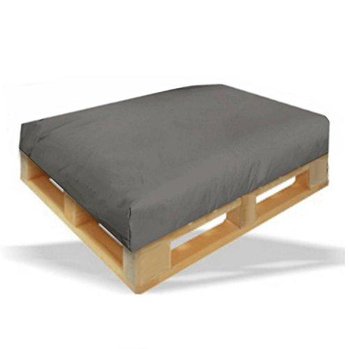 Palettenkissen Sitzpolster 120x80x15cm Farbe Anthrazit - In & Outdoor - Palettenpolster - Paletten Rattanmöbel Polster