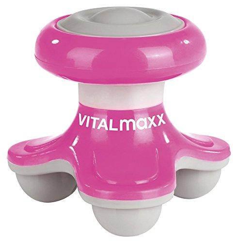 VITALmaxx 03381 Mini-Massagegerät to go 4.5V pink, Vibrationsmassage Zuhause und unterwegs für Beine, Hals, Rücken, Kopf, Nacken