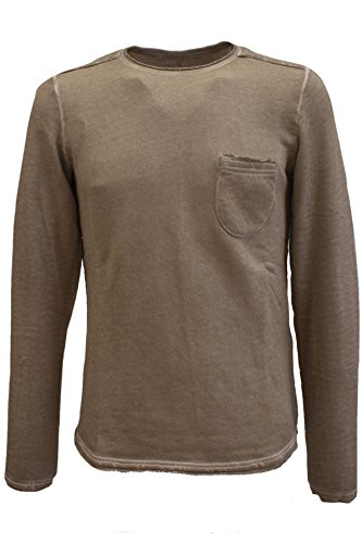 TOM TAILOR Denim Herren Open Edge Crew Neck Sweater in 2 Farben vintage beige (8452)