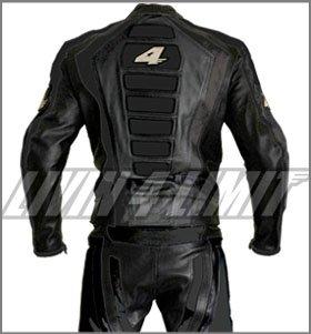 Tuta-pelle-per-dita-Giacca-pantaloni-colore-nero