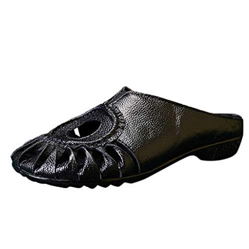 r Sandalen Bohemian Flach Sandaletten Sommer Strand Schuhe,Frauen Sommer Hohl Ethnischen Stil Freizeitschuhe Flache Sandalen Hausschuhe ()