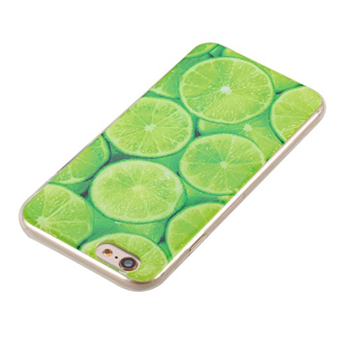 Custodia iphone 6 Plus, Custodia Cover per iphone 6S Plus, Felfy Pantalone Colorato Trasparente Gel TPU con Farfalla e Gatto Design Resistente Shock Absorbente Scratch Resistente Custodia Protettiva C Limone#A