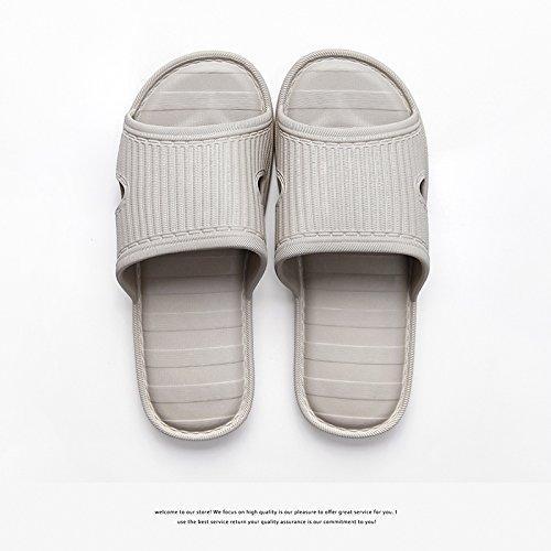 DogHaccd pantofole,Four Seasons Home ciabatte da bagno donne indoor estate home bagno fondo morbido in plastica inverno maschio giovane cool pantofole Brown1