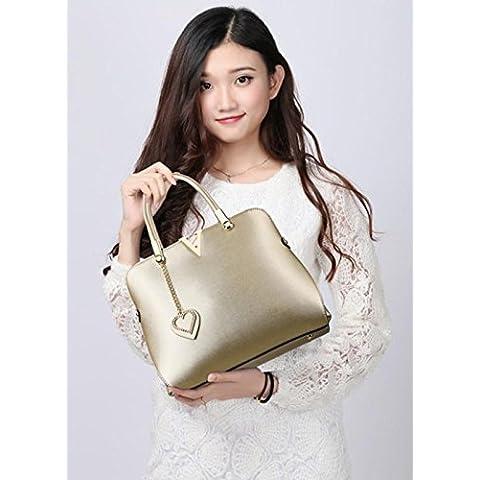GQQ NUEVOS bolsos de hombro bolsos moda Dacron PU para la parte comercial y lugar de trabajo hasta 6 L GQ bolso @ , gold