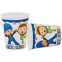 Verbetena, 016001506, pack 8 vasos pocoyo y nina, 220 ml