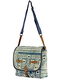 Priti Vintage Design Washed Canvas Travel Fashion Collage School Bags For Girls Women's Handbags