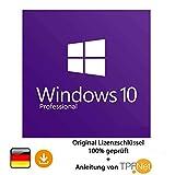 Microsoft Windows 10 Pro 32 bit & 64 bit - Original Lizenzschlüssel + Anleitung von TPFNet - Bei uns steht die Kundenzufriedenheit an erster Stelle. - Geprüfte Qualität und 100% Kundenservice. - Nach Ihrem Kauf erhalten Sie umgehend d...