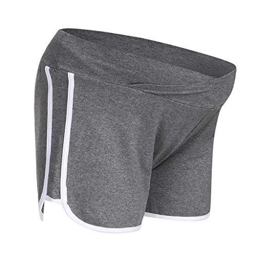 Dasongff Kurze Umstandsshorts/Umstandshose mit Bauchband für Sommer Mode Sport Mutterschaft Umstandsshorts Komfortable Umstandshose mit Bauchband Slim Fit