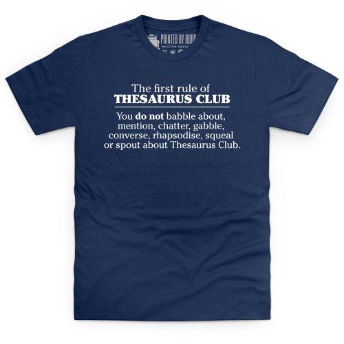 Thesaurus Club T-Shirt, Herren Dunkelblau