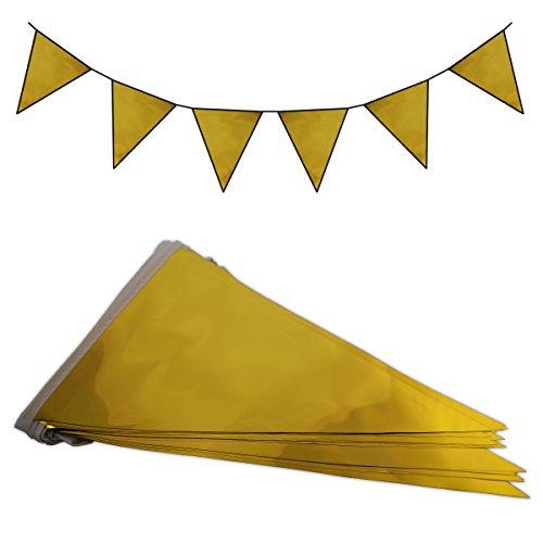 10m Wimpelkette Girlande verschiedene Farben (Gold)