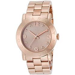 Reloj Marc by Marc Jacobs de mujer Amy dorado en oro rosa, con circonitas MBM3221.