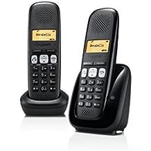 Gigaset A 250 Duo Telefono 2 Cordless, Vivavoce, Chiamate tra Interni/Interfono, Rubrica Personalizzabile, Trasferimento di Chiamata, Nero