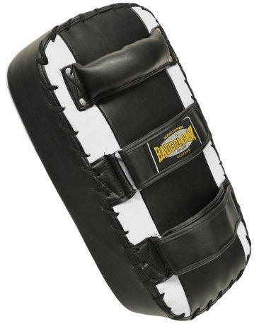 Premium PU Arm-Makiwara schwarz / weiß - Schlagpolster / Kicking Pad / Thai Pad
