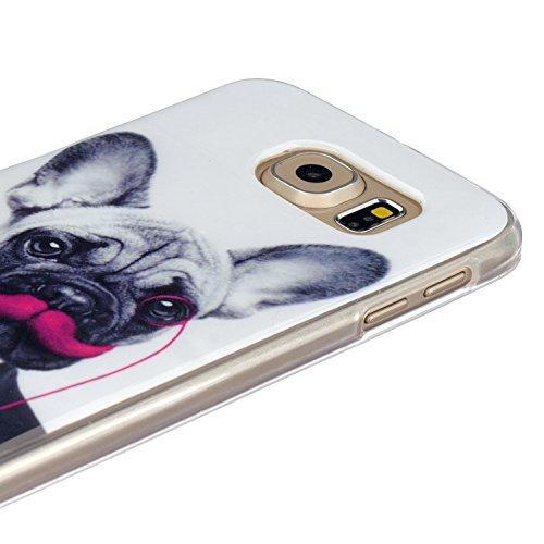 Ecoway copertura / coperture / insiemi di telefono / shell protettivi apparecchi telefonici mobili chiari e trasparenti Custodia TPU silicone Crystal per Apple iPhone 5/5S, case cover protettivo diseg M. chiens