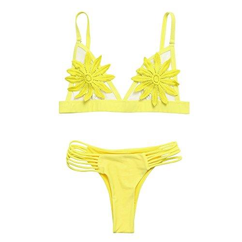 3e8b4869fe Meilleure Vente!LuckyGirls Les Femmes Push-up Soutien-Gorge rembourré  Floral Ensemble Bikini