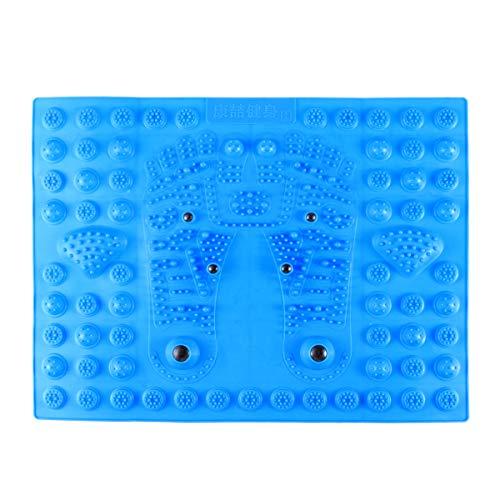 SUPVOX Akupressur Fußmatte Fußmassagematte Fußreflexzonenmatte Magnetfeldtherapie Reflexzonenmassage Matte für Fuß Entspannung (Blau)