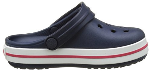 Crocs Crocband Clog K Navy/Red, Zoccoli Unisex – Bambini Blu (Navy/Red)