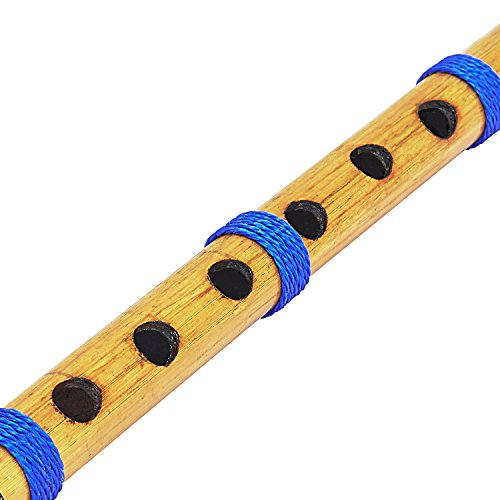Unique Birthday Gift Ideas 13 Inch Authentic Indian Wooden Bamboo Flute in 'C' Key Fipple Woodwind Musical Instrument Recorder Traditional Bansuri Hand Crafted Novelty Gifts Men Women Kids