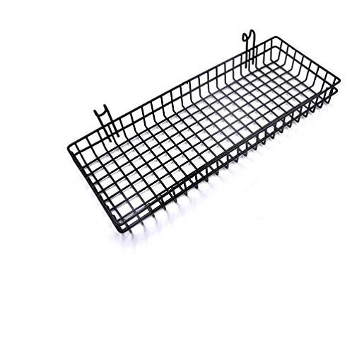 Metall Wire Hängepflanze Korb, Multifunktions Creative Mesh Wall Grid Halter Aufbewahrung Organizer Halter Regal Blumentöpfe schwarz beschichtet Basket3 -