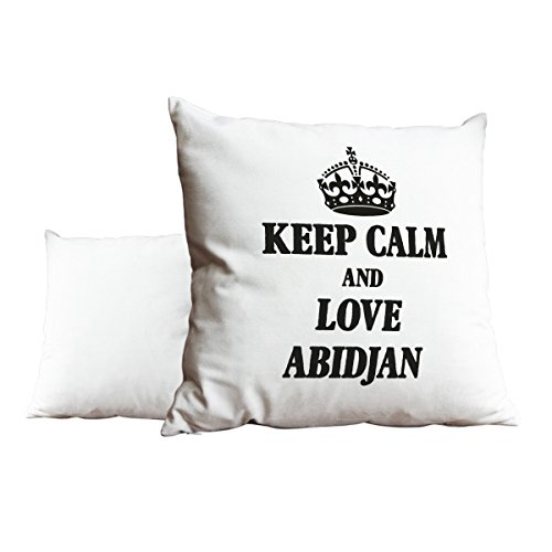 Schwarz Keep Calm und Love Abidjan weiß Scatter Kissen 2067