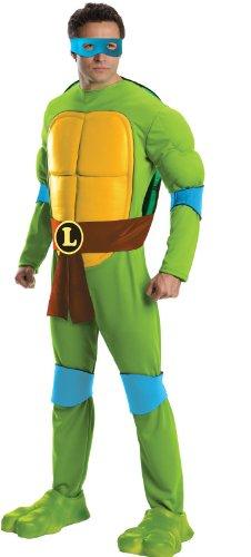 Turtles Leonardo Deluxe Erwachsene Kostüm (Standard) (Ninja Turtle Adult Kostüme)