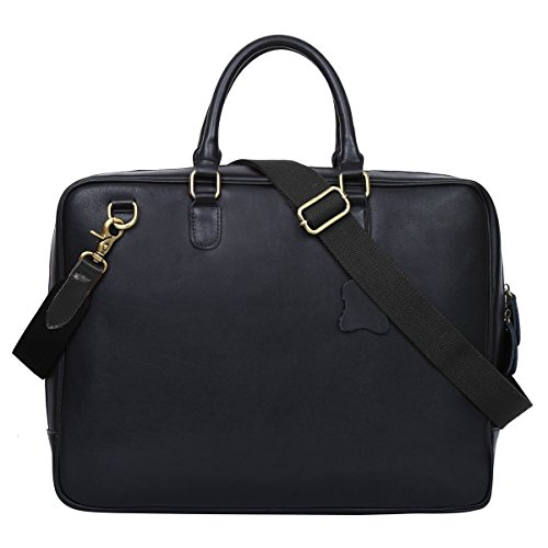 Leathario Herren Ledertasche Umhängetasche Handtasche Schultertasche Aktentasche Laptoptasche Schultasche Dokumententasche Businesstasche Messenger Bag