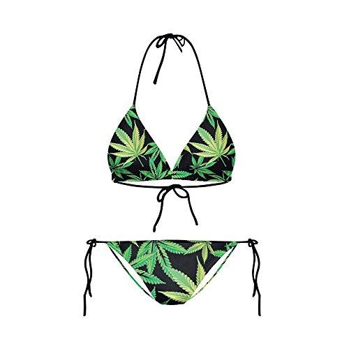 Schwimmen Quicksilver Kostüm - WHLTX Stilvolle Band Ist Auch Schwimmen Kostüm Haschisch Digital Stamp Sexy Bikini Bilder, M